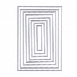 1db geometriai minta keret forma vágó bélyeg Betűrajz DIY Scrapbook kártya dekoratív kézműves szett