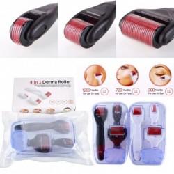 4 az 1-ben 0,5 / 1,0 / 1,5 mm-es titán Derma Roller Micro bőr terápiás készülék Fekete és fehér