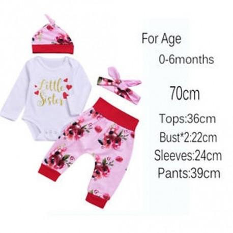 d9539382e9 70cm - 2018 Új érkezés gyerekek lány virágos ruházat kalap nadrág nadrágot  kisgyermek bébi ruhák