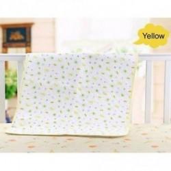 Sárga - 35 * 45cm lágy baba vizeletpárna pamut és TPU abszorbens rongy matrac törölközővel
