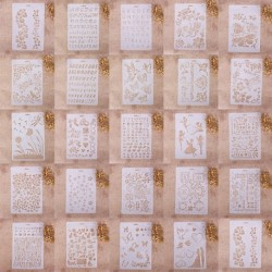 1x Különböző mintás Stencil DIY otthoni Dekoráció Scrapbook Album