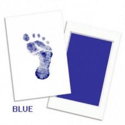 Kék - Baby Keepsake Újszülött lábnyom Handprint tintapárna keret Nem-toxikus Touch Clean