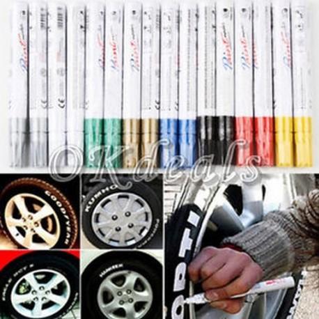 Univerzális vízálló permanens festék markoló toll autó gumiabroncs gumiabroncs futó gumi fém