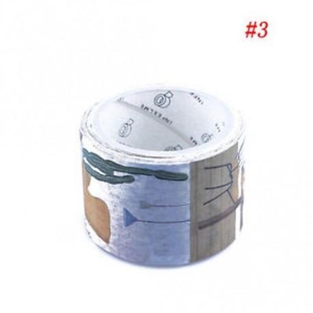 * 3 - 3cm * 5m Háztartási szép élet washi szalag DIY dekoráció tervező szalag ragasztó