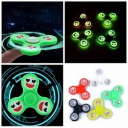 Aranyos Luminous Smile Arc Kézi Spinner Emoji Fidget Glow Relief Focus Stress