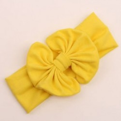 Sárga - Aranyos Baby Girl Kid Stretch bowknot Hajszalag fejpántos Baby Turban Knot Head Wrap