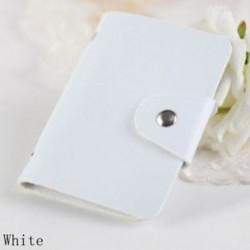 fehér - Táskák Candy Color Protector Aranyos kártya tartó PU Leather 24 Slots Organizer