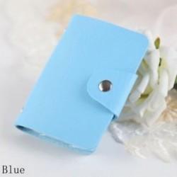 kék - Táskák Candy Color Protector Aranyos kártya tartó PU Leather 24 Slots Organizer