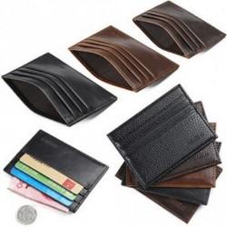 Férfi őrült ló bőr Slim hitelkártya-tartó tartó pénztárca tok pénztárca táska tasak