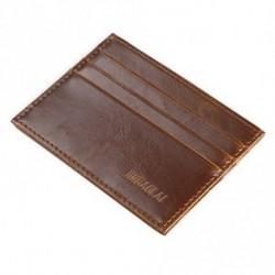 * 1 Könnyű kávé - Férfi őrült ló bőr Slim hitelkártya-tartó tartó pénztárca tok pénztárca táska tasak