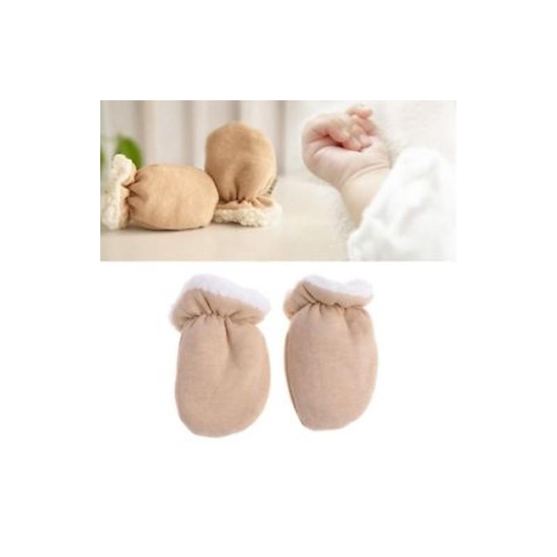 7d15ea3a7d Újszülött gyermek ujjatlan téli gyerek kesztyű Meleg gyerek Cashmere  csecsemő kisgyermek ...