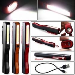 COB LED Mini Pen Fény Clip Mágnes USB Újratölthető Munka Zseblámpa lámpa