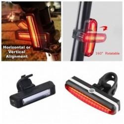 USB újratölthető COB LED kerékpár kerékpár kerékpár hátsó hátsó lámpa 6 üzemmód