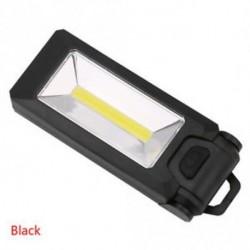 fekete - 1 x hordozható 4 * LED   COB kültéri kempinglámpa mágneses lámpák