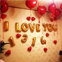 18 colos léggömb szív esküvői alumínium fólia lufi felfújható ajándék születésnapi ballon 1db