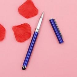 Kék - 2 in 1 kapacitív golyóstoll érintőképernyős Stylus Pen iPhone készülékhez Samsung Tablet PC