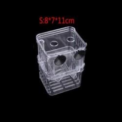 S - Haltenyésztés izolációs doboz Dupla Guppies inkubátor tenyésztő Fish Tank Aquarium