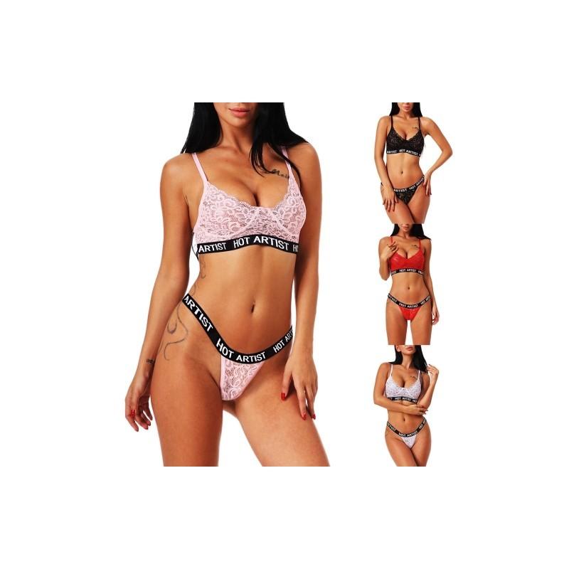 59a9712371 1x női divatos sport alsó melltartó fehérnemű szett
