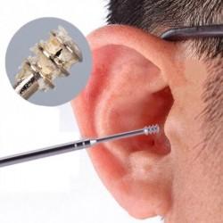 1db Újrahasznosítható rozsdamentes acél spirál fül zsír eltávolító fültisztító