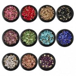1 adag Gyémánt alakú színes vegyes strasszos körömdísz körömhöz - műkörömhöz