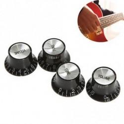 4db fekete ezüst elektromos gitárgombok sebességmérő hangtompító gitár alkatrész