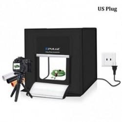 US Plug - 40 * 40 cm-es, 16 colos stúdió fényteret fényképezési sátorkészlet készlet fényképezés Softbox