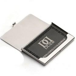 Fém üzleti személyi hitelkártya bankkártya doboz tartó rozsdamentes