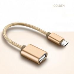 Fém USB C 3.1 C Típus Férfi USB nő OTG Data Sync Converter adapter kábel