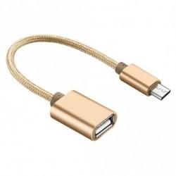 Micro USB - USB 2.0 OTG adat Host kábel adapter Android S5 S6