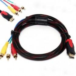 5Ft HDMI a 3-RCA Video Audio AV komponens átalakító adapter kábel HDTV