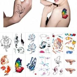 1 lap színes aranyos ideiglenes tattoo matrica vízálló halloween party ajándék vízi transzfer DIY