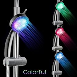 1x Automatikus színváltós LED zuhanyfej fényes szórófej