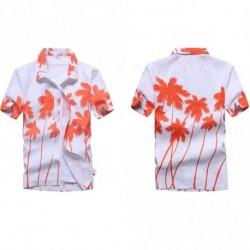 aaf62cdc310b Divat férfi Hawaii póló Nyári virágos nyomtatott strand rövid ujjú felső  blúz