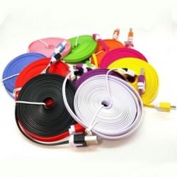 1x 3M színes Micro Usb szalagkábel lapos adat szinkron Gyors töltő kábel