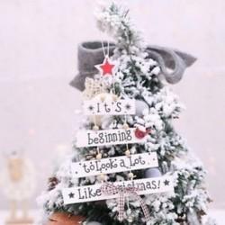 DIY Fa Boldog Karácsonyt Hanging Medálok Fa díszek Home Party Door Decor