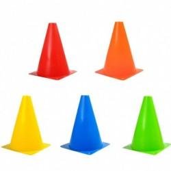 18 cm-es műanyag színes tartós segédfutás-edzőkúp akadály pálya sport fitnesz torna elem