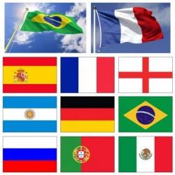 1x Nemzeti zászló Beltéri kültéri dekoráció világbajnokság zászlaja 90 * 150CM