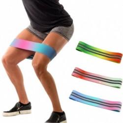 1x Többszínű csípő ellenállás Latex pamut rugalmas szalag fitness edzés jóga