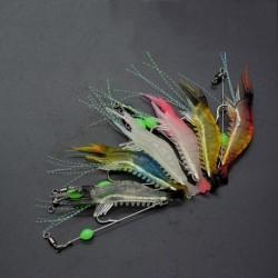 1x sőtétben világító 9.5 cm bait crabkbait műcsali horgász kiegészítő horoggal