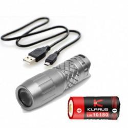 1x Klarus Mini One Ti zseblámpa CREE XP-G3 LED titán újratölthető kulcstartó fény