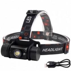1x Érzékelő USB Fényes fényszóró 5W zseblámpa Vízálló túra vadászat kemping