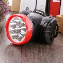 1x 9 LED fényszóró töltés Erős fejlámpa kemping vadászathoz Horgászaz bányász fejlámpa