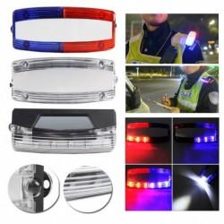 1x Újratölthető piros kék strob fények Clip villogó biztonsági figyelmeztető jelzőfények
