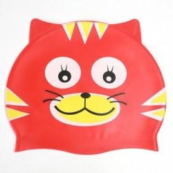 1db szilikon gyermek gyerek cica macska mintás úszósapka