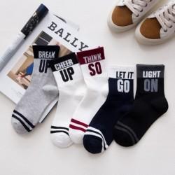 1 pár férfi női mintás sport zokni