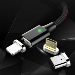 1x Fonott mágnes USB töltőkábelhez iPhone Samsung Type-C Micro készülékhez