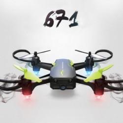 1x RC Drón 4-tengelyes távirányító helikopteres Quadcopter 2MP HD kamera távirányítóval