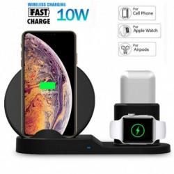 1x 3az1 10W Qi vezeték nélküli gyors töltő dokkoló állvány Apple Watch Airpods iPhone X Xs