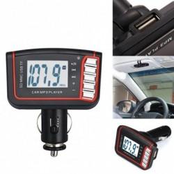1x Autó MP3 zenelejátszó LCD autó MP3 MP4 lejátszó Vezeték nélküli FM-adó modulátor SD / MMC kártya