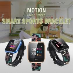 1x óra színes karkötő IP67 vízálló fitnesz vérnyomás oxigén pulzusszám nyomkövető Android iOS
